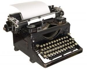 PTA Board Minutes - Vintage Typewriter