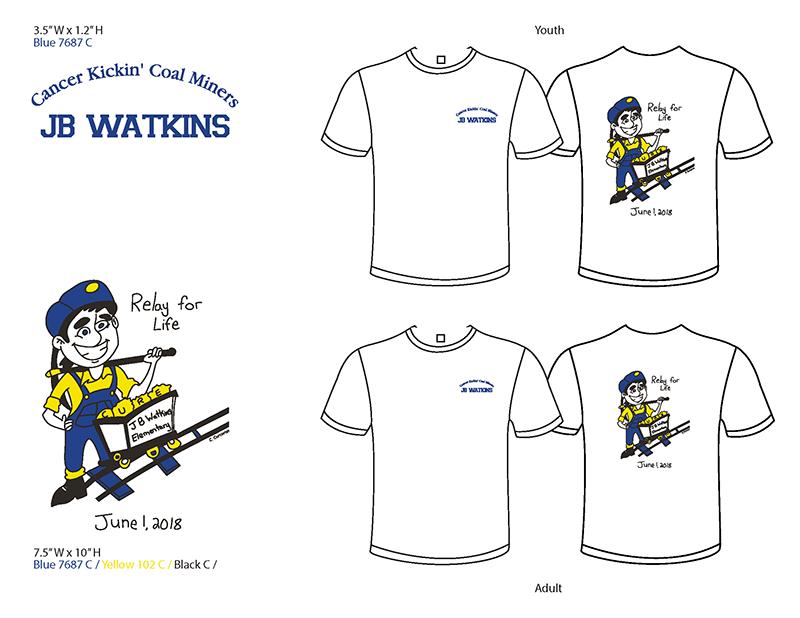 Relay for Life T-shirt mockup - JB Watkins