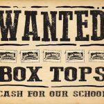 wanted - box tops