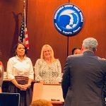 JB Watkins principal Debbie Weatherford recognized at school board meeting