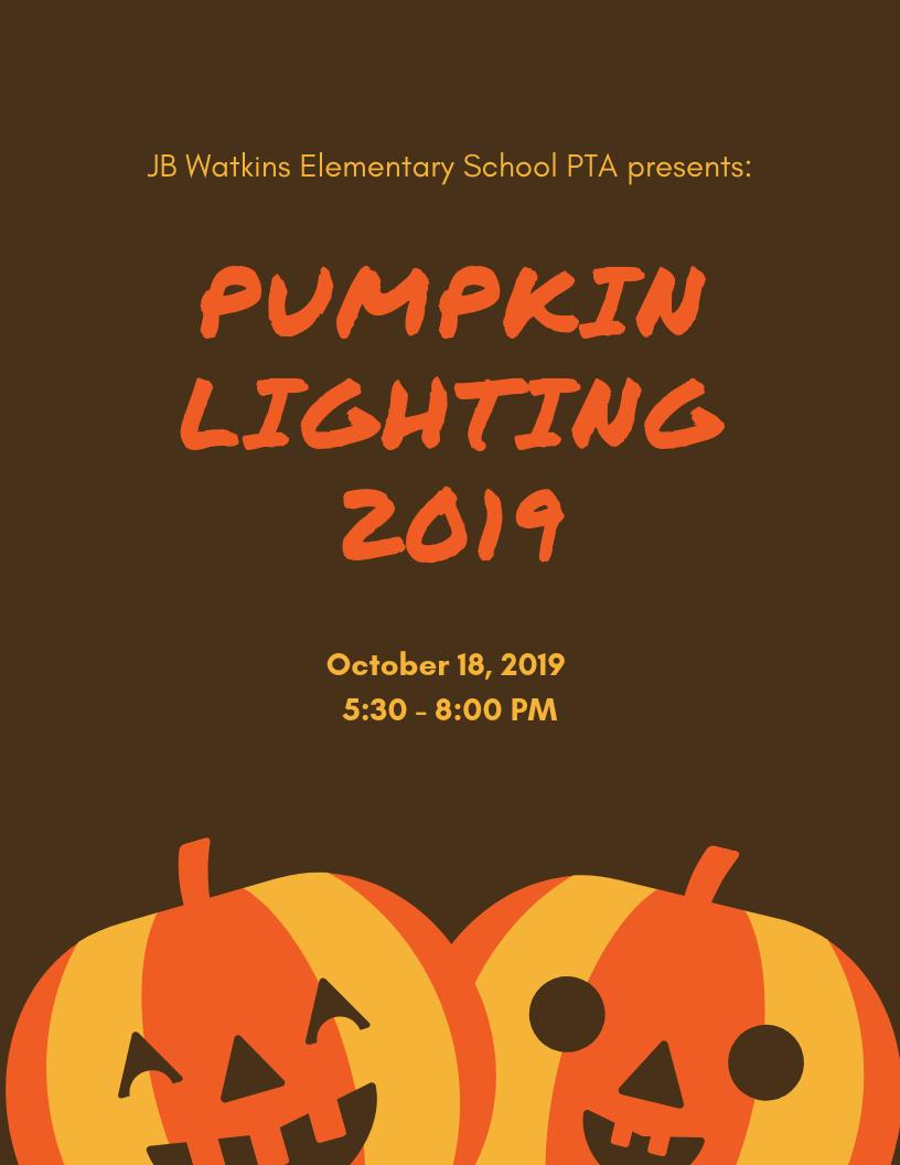 JB Watkins Pumpkin Lighting Flyer