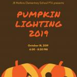 Flyer for JB Watkins Pumpkin Lighting