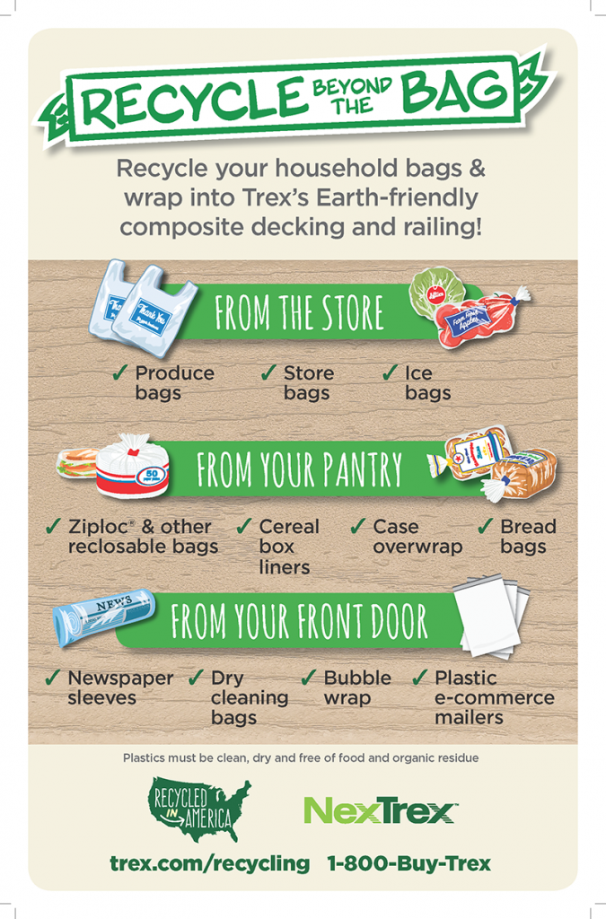 Trex Recycling Poster