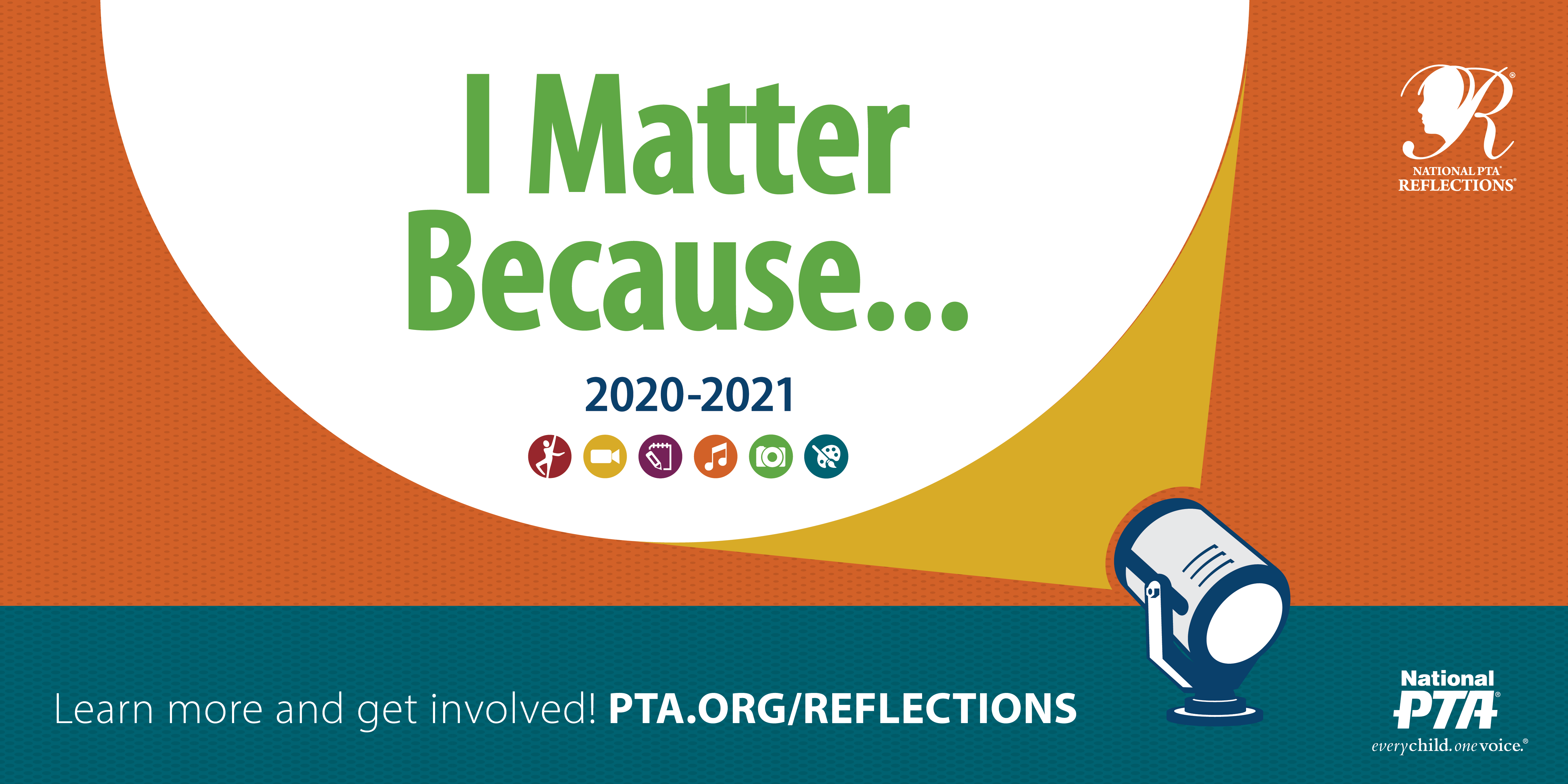 Logo for the 2020 PTA Reflections contest