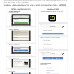 Image upload directions for yearbook